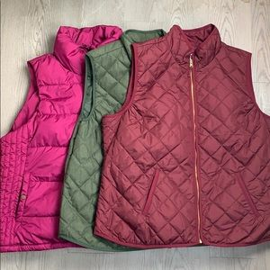 Old Navy puffer vests Bundle of 3 size XXL